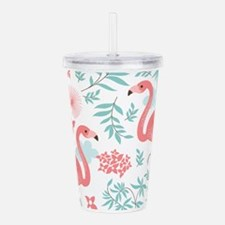 Pink Flamingos Acrylic Double-wall Tumbler