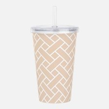 Peach Basket Weave Acrylic Double-wall Tumbler
