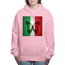 Italian Flag Butterfly Women's Hooded Sweatshirt