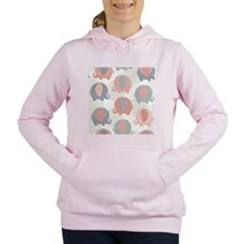 Cute Elephants Women's Hooded Sweatshirt