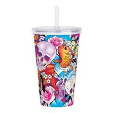 Tattoo Art Acrylic Double-wall Tumbler