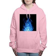 Blue Flames Women's Hooded Sweatshirt