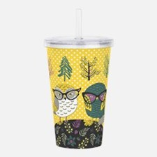 Trendy Owls Acrylic Double-wall Tumbler