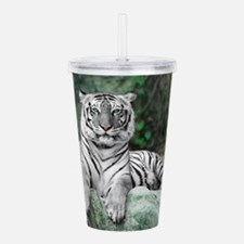 White Tiger Acrylic Double-wall Tumbler
