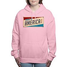 america.jpg Women's Hooded Sweatshirt