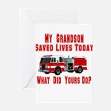Grandson-What Did Yours Do? Greeting Cards (Packag