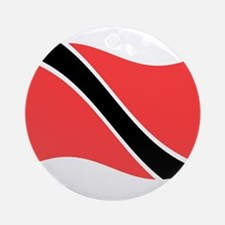 Waving Trinidad-Tobago Flag Ornament (Round)