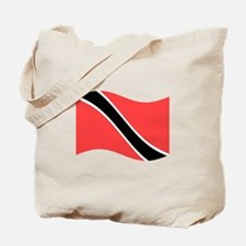 Waving Trinidad-Tobago Flag Tote Bag