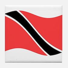Waving Trinidad-Tobago Flag Tile Coaster