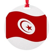Waving Tunisia Flag Ornament