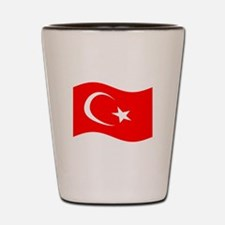 Waving Turkey Flag Shot Glass