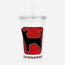 5-redsilhouette.png Acrylic Double-wall Tumbler
