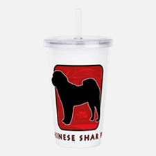 7-redsilhouette.png Acrylic Double-wall Tumbler