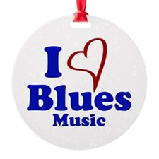 I Heart Blues Music Ornament