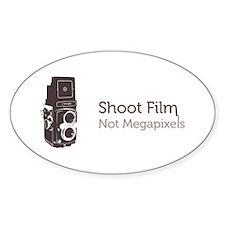 Shoot Film Not Megapixels Decal