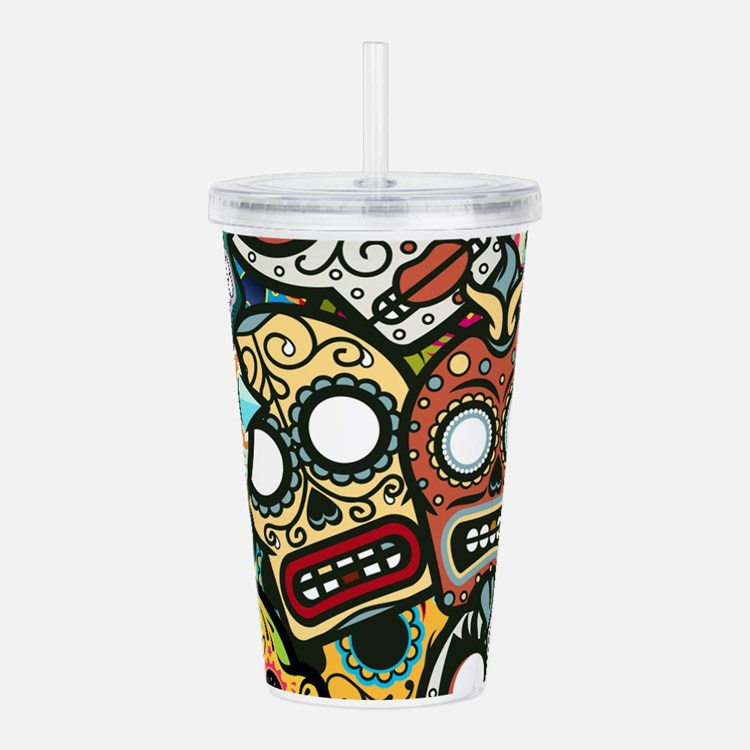 Cute Day of the dead Acrylic Double-wall Tumbler