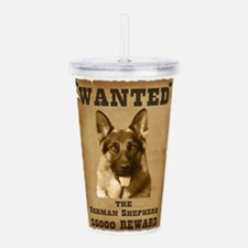 2-Wanted V2.png Acrylic Double-wall Tumbler
