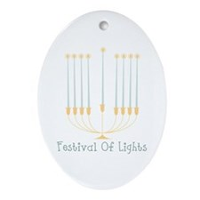 Festival Of Lights Ornament (Oval)