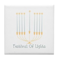 Festival Of Lights Tile Coaster