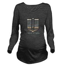 Festival Of Lights Long Sleeve Maternity T-Shirt