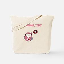 Custom Cartoon Pink Love Owl Tote Bag