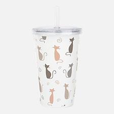 Stylish Cats Acrylic Double-wall Tumbler
