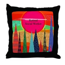 Retired Social worker 2 Throw Pillow