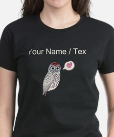 Custom White Love Owl T-Shirt