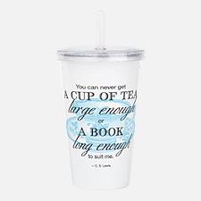 Tea Quote Acrylic Double-Wall Tumbler