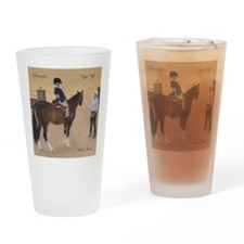 Cute Horse trainer Drinking Glass