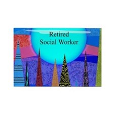 Retired Social Worker 1 Magnets