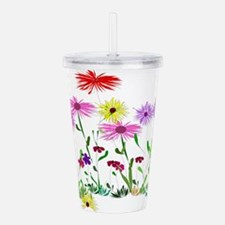 Flower Bunches Acrylic Double-wall Tumbler