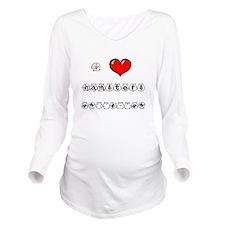 I Love Hamsters Long Sleeve Maternity T-Shirt