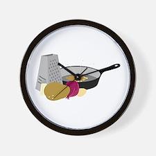 Latkes Wall Clock