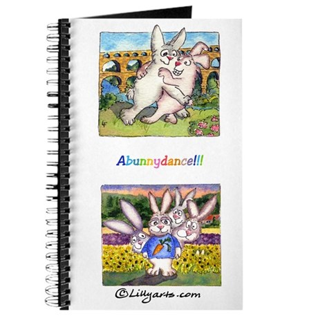 "Cute Cartoon Rabbit Provence Travel 8x5"" Journal"