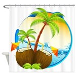Tropical Drinks Shower Curtain
