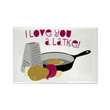 I Love You A Latke! Magnets