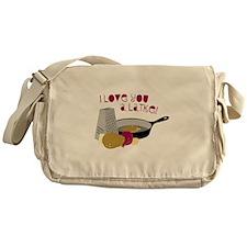 I Love You A Latke! Messenger Bag