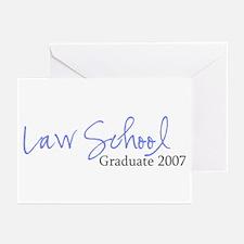 Law School Graduate 2007 (Blue Script) Greeting Ca