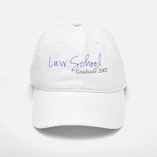 Law School Graduate 2007 (Blue Script) Baseball Baseball Cap