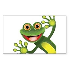 Happy Green Frog Decal
