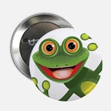 """Happy Green Frog 2.25"""" Button (10 pack)"""