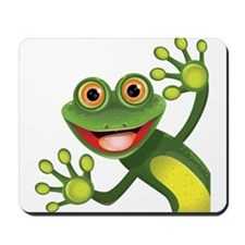 Happy Green Frog Mousepad