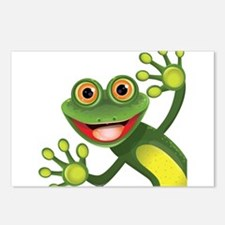 Happy Green Frog Postcards (Package of 8)