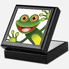 Happy Green Frog Keepsake Box