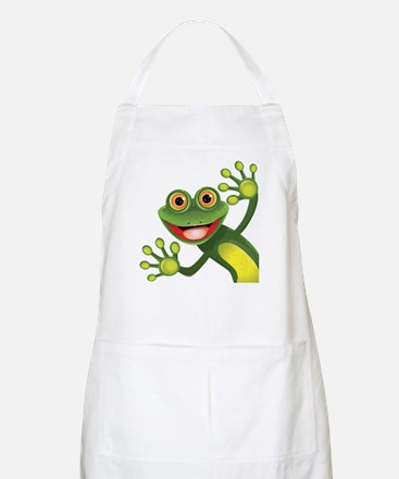 Happy Green Frog Apron