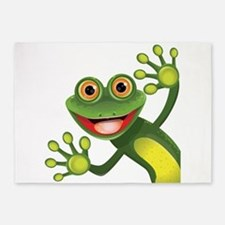 Happy Green Frog 5'x7'Area Rug