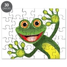 Happy Green Frog Puzzle