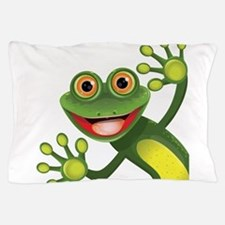 Happy Green Frog Pillow Case