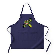 Happy Green Frog Apron (dark)